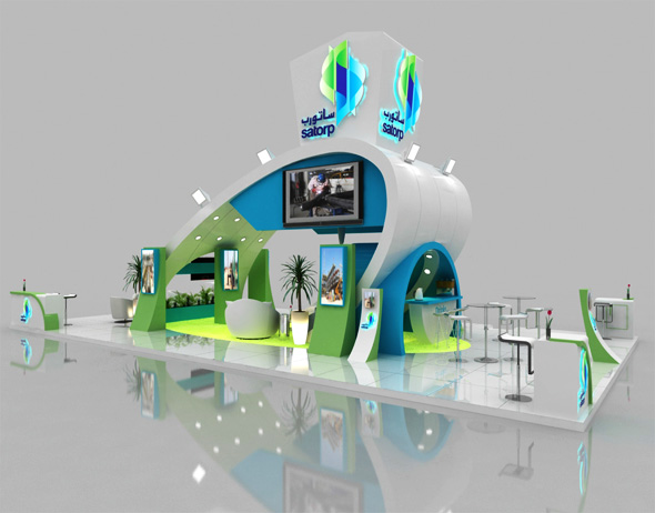 Exhibition Booth Animation : Exhibition stand d warehouse