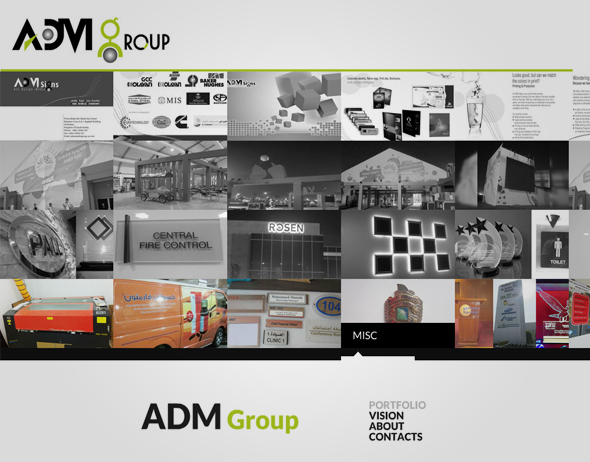 Website Design ADM GROUP Saudi Arabia