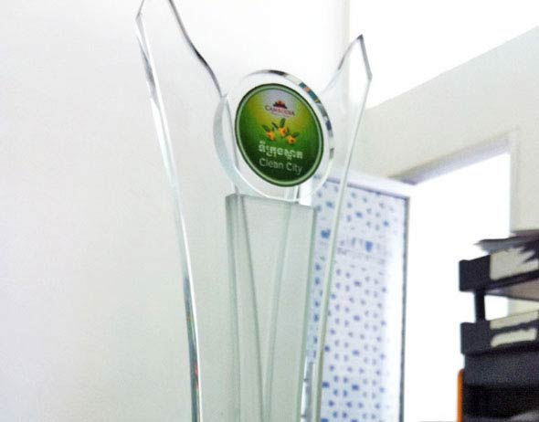 Glass Trophy Clean City Awards (Cambodia)