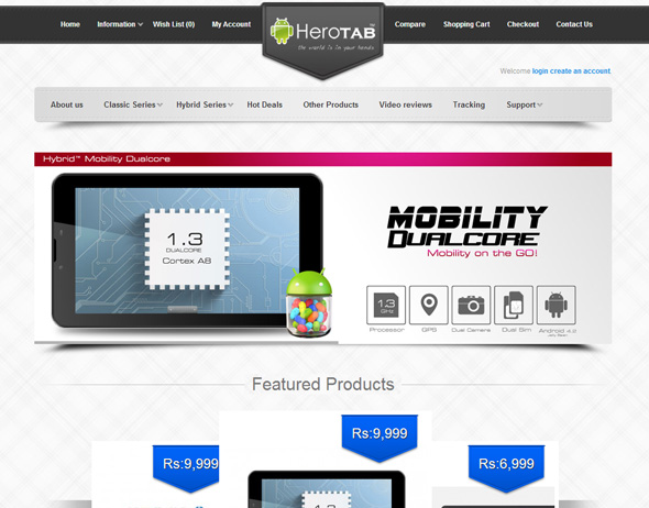 e-Commerce Website (Herotab)