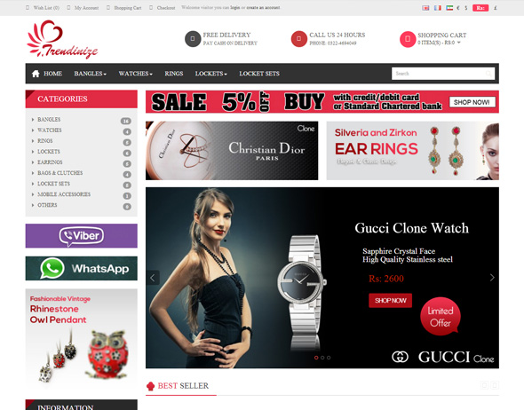 E-Commerce Website for Jewlery (Trendinize)
