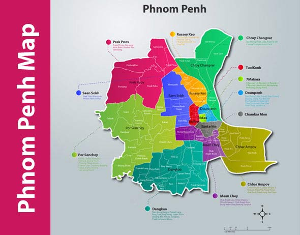 Phnom Penh Latest Map 2015