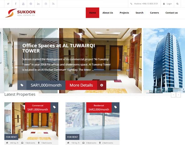 Real Estate Web Design Sukoon Saudi Arabia